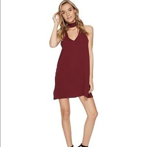 Show Me Your Mumu Burgundy Friday Choker Dress